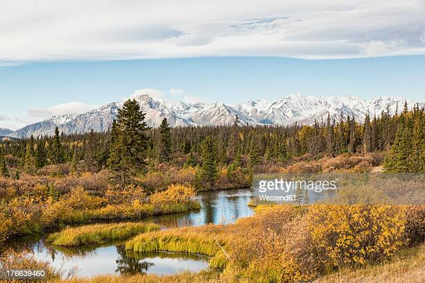 Canada, View of Jarvis River at Kluane National Park and Reserve