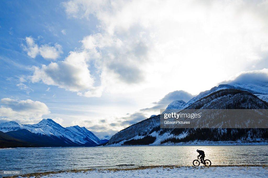 Canada Winter Fat Biking : Stock Photo