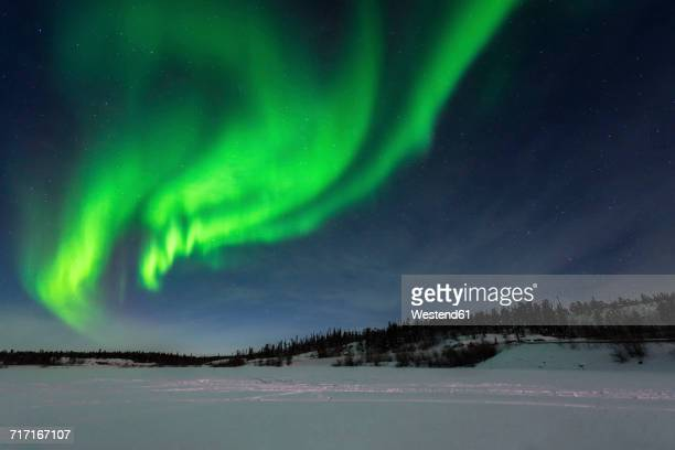 Canada, Yellowknife, Northern lights