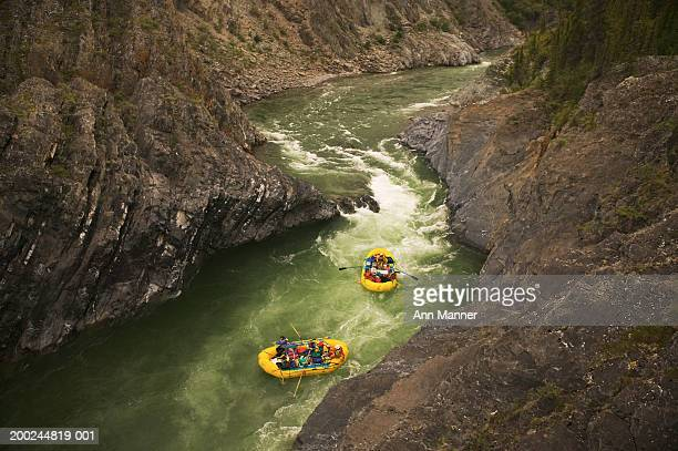 Canada, Yukon Territory, Ivvavik NP, Firth River, two whitewater rafts