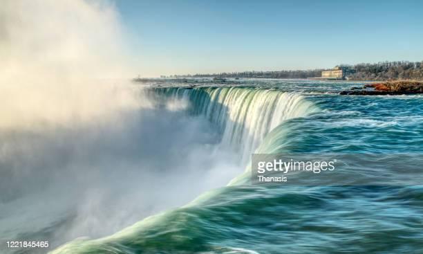 canada,horseshoe falls,niagara falls, early spring. - ナイアガラ滝 ストックフォトと画像