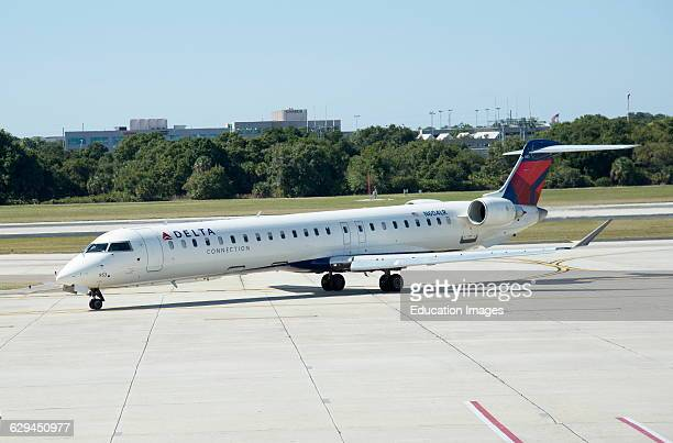 Canadair CL600 regional jet operated by Endeavor Air for Delta at Tampa Intl Airport Florida USA