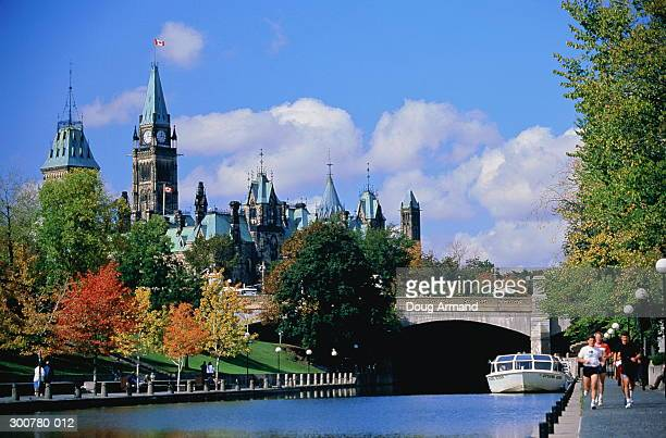 Canada,Ontario,Ottawa,Parliament Building,Rideau Canal in foreground
