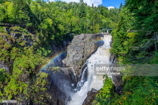 canada-quebec-saint-joachim-canyon sainte-anne - brook mitchell stock pictures, royalty-free photos & images