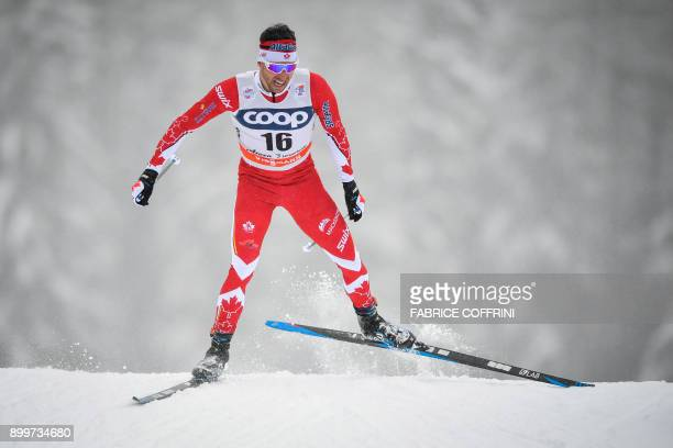 Canada's Alex Harvey competes in the Men's 15 km Sprint Free qualification during the cross country FIS World cup Tour de Ski event on December 30...