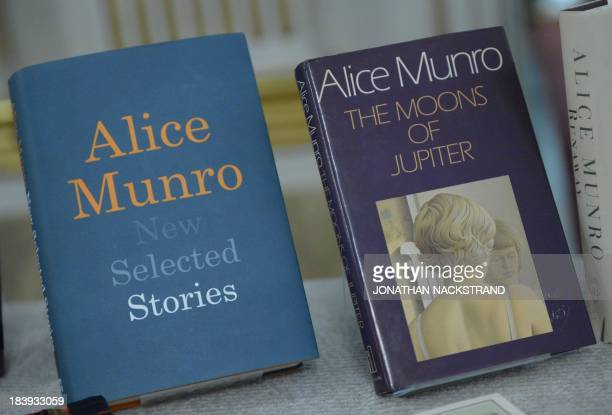 Canada's Alice Munro books the Nobel laureate in literature 2013 are seen at Swedish Academy on October 10 2013 at the Royal Swedish Academy in...