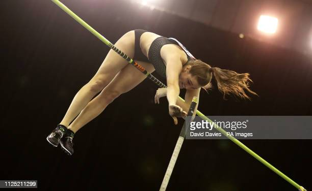 Canada's Alysha Newman during the Women's Pole Vault during the Muller Indoor Grand Prix at Arena Birmingham