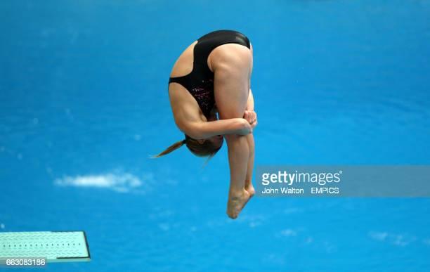 Canada's Blythe Hartley during the women's 3m springboard preliminaries