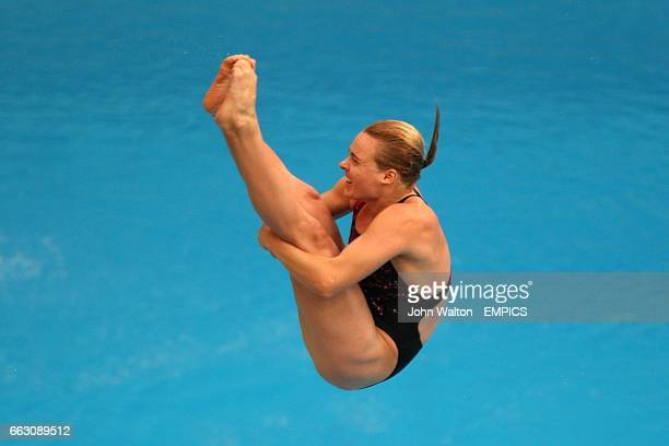 Canada's Blythe Hartley during the Women's 3m Springboard Preliminaries at the 2008 Olympic Games' National Aquatics Center in Beijing China