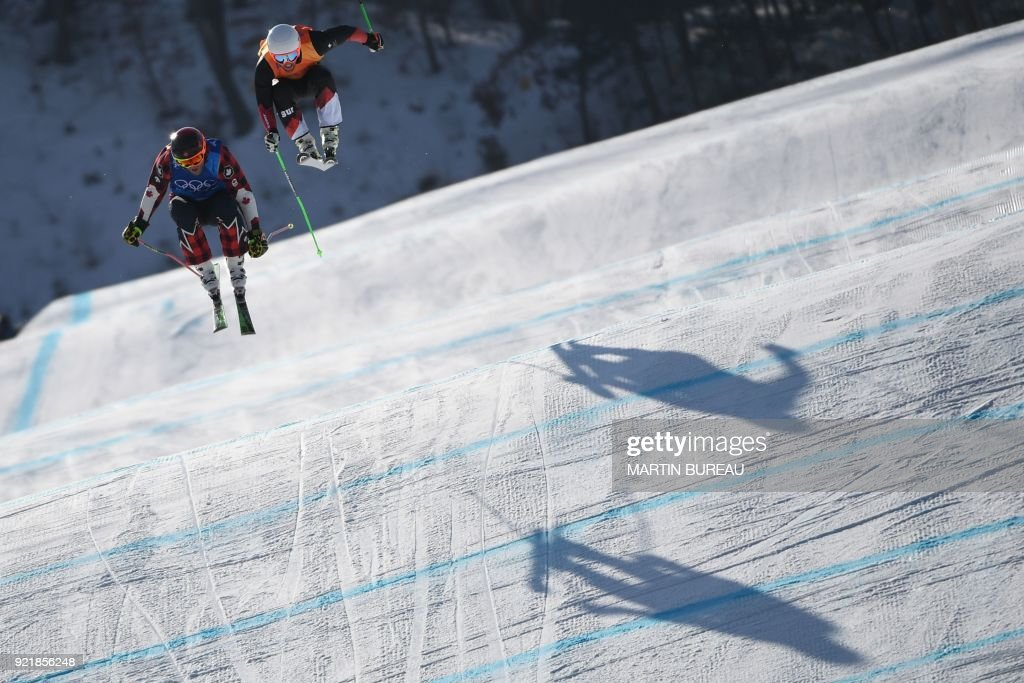 TOPSHOT-FREESTYLE SKIING-OLY-2018-PYEONGCHANG : News Photo