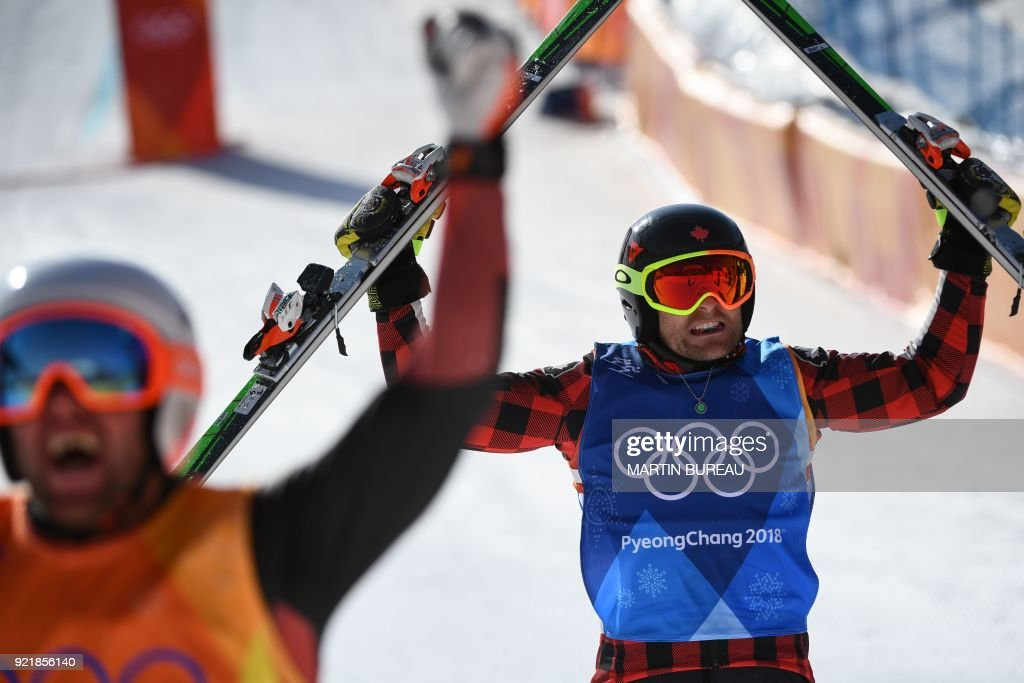 FREESTYLE SKIING-OLY-2018-PYEONGCHANG-PODIUM : News Photo