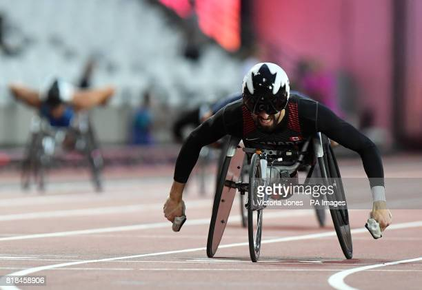 Canada's Brent lactose wins the Men's 200m T53 Final during day five of the 2017 World Para Athletics Championships at London Stadium
