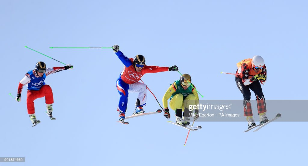 Canada's Dave Duncan (right) leads over the last jump to win his heat in the Men's Ski Cross at the Phoenix Snow Park during day twelve of the PyeongChang 2018 Winter Olympic Games in South Korea.
