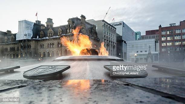 Canada's Eternal Flame in Winter