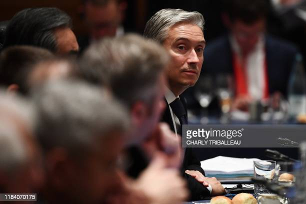 Canada's Foreign Affairs Minister François-Philippe Champagne attends the third plenary session of the G20 foreign ministers' meeting in Nagoya,...