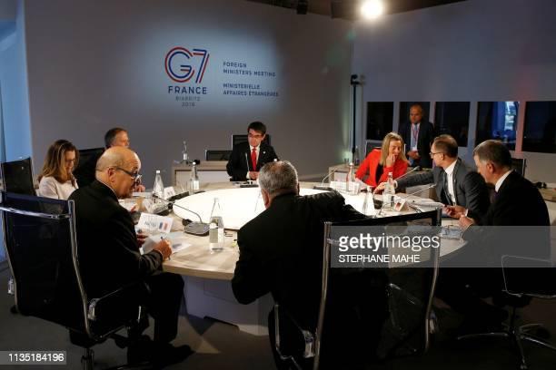 Canada's Foreign Minister Chrystia Freeland, Italy's Foreign Minister Enzo Moavero Milanesi, Japan's Foreign Minister Taro Kono, European Union High...