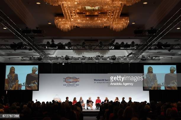 Canada's Foreign Minister Chrystia Freeland Ivanka Trump daughter and adviser of US President Donald Trump International Monetary Fund Managing...