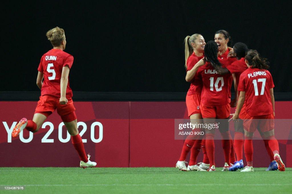 FOOTBALL-OLY-2020-2021-TOKYO-JPN-CAN : News Photo