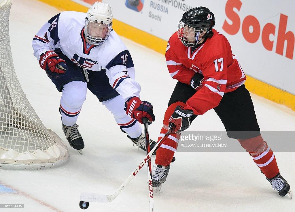 IHOCKEY-U18-WORLD-FINAL-CAN-USA : Photo d'actualité