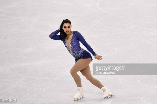 Canada's Gabrielle Daleman competes in the figure skating team event women's single skating free skating during the Pyeongchang 2018 Winter Olympic...