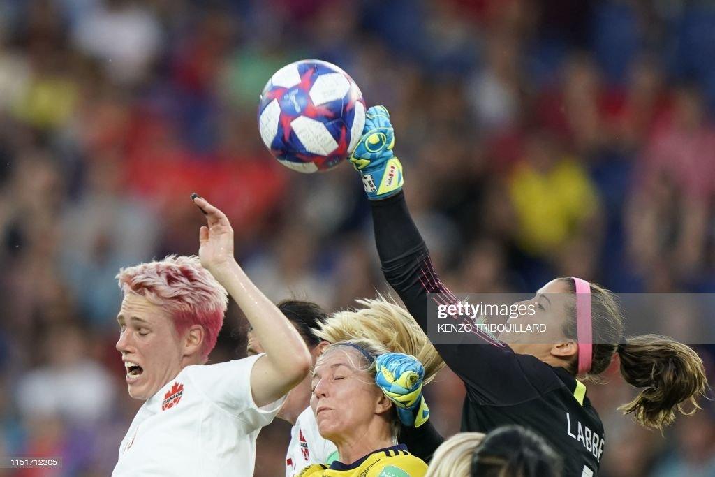 TOPSHOT-FBL-WC-2019-WOMEN-MATCH42-SWE-CAN : News Photo
