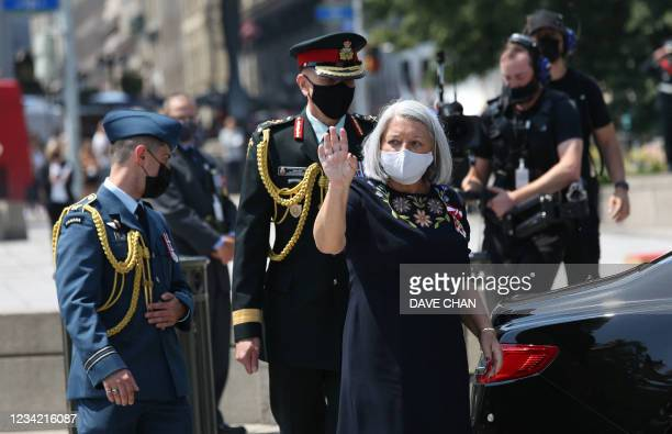 Canada's Governor General Designate Mary Simon arrives for her installation ceremony on July 26, 2021 in Ottawa, Canada. - Simon is now the 30th...