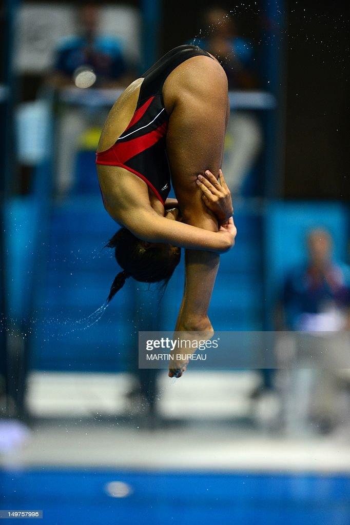 Canada's Jennifer Abel competes in the preliminary round ...  Jennifer Abel