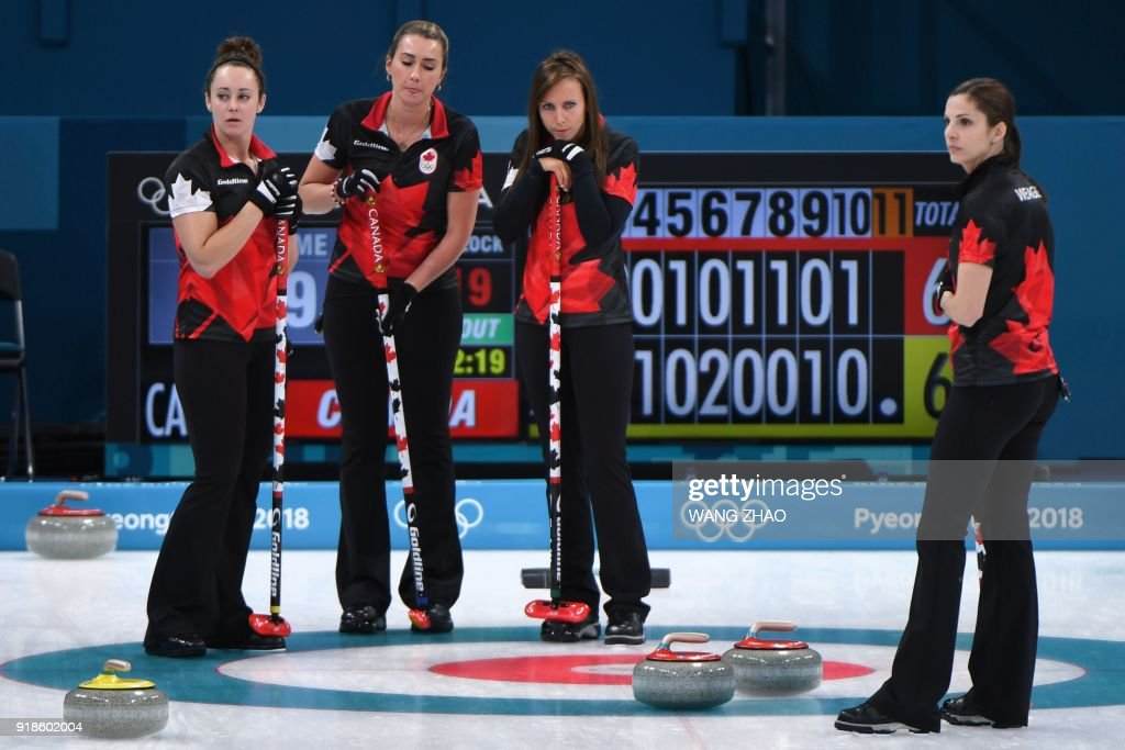 CURLING-OLY-2018-PYEONGCHANG-CAN-SWE : News Photo