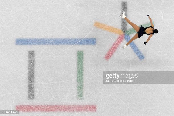 TOPSHOT Canada's Kaetlyn Osmond competes in the figure skating team event women's single skating short program during the Pyeongchang 2018 Winter...