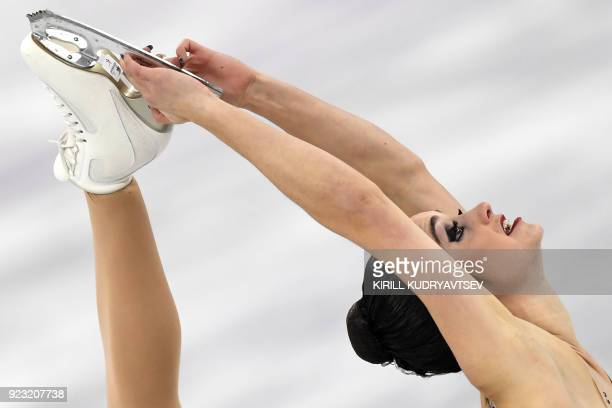 TOPSHOT Canada's Kaetlyn Osmond competes in the women's single skating free skating of the figure skating event during the Pyeongchang 2018 Winter...