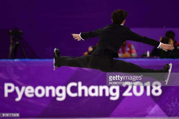 Canada's Keegan Messing competes in the men's single skating free skating of the figure skating event during the Pyeongchang 2018 Winter Olympic...