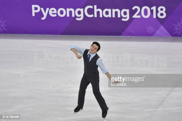 Canada's Keegan Messing competes in the men's single skating short program of the figure skating event during the Pyeongchang 2018 Winter Olympic...
