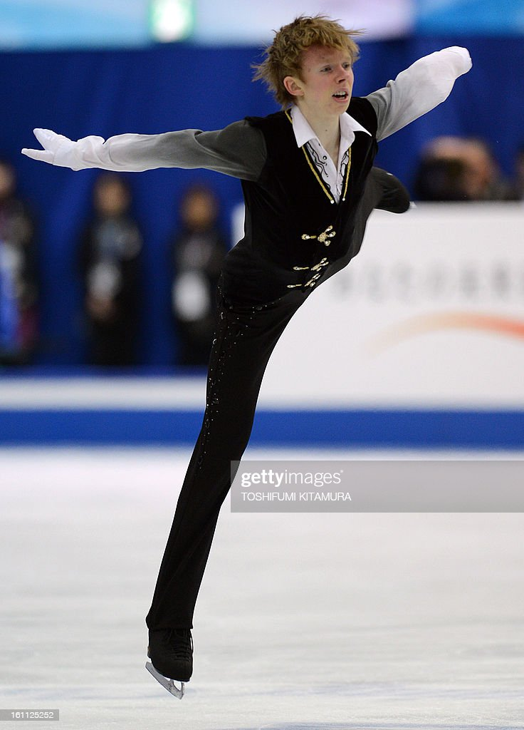 Canada's Kevin Reynolds performs during the men's 'free skating' event during the Four Continents figure skating championships in Osaka on February 9, 2013.