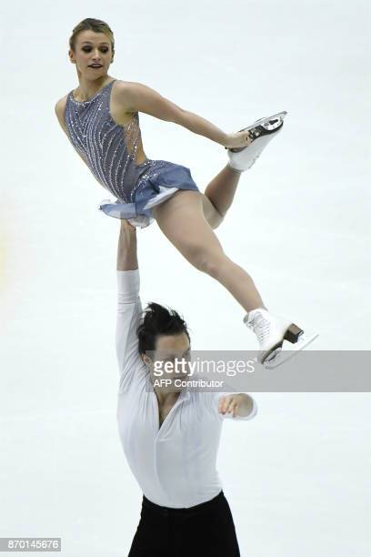 Canada's Kirsten MooreTowers and Michael Marinaro perform during the pairs free Skating event of the Cup of China ISU Grand Prix of Figure Skating in...