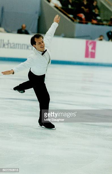 Canada's Kurt Browning during the figure skating event at the 1994 Winter Olympics in Lillehammer Norway