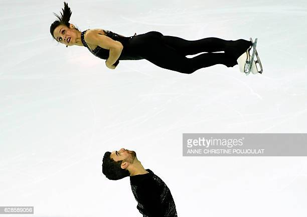 TOPSHOT Canada's Meagan Duhamel and Eric Radford compete in the senior pair short program at the ISU Grand Prix of Figure Skating Final on December 8...