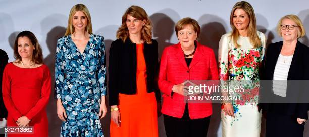 Canada's Minister of Foreign Affairs Chrystia Freeland First Daughter and Advisor to the US President Ivanka Trump cochairwoman of the W20 Stephanie...