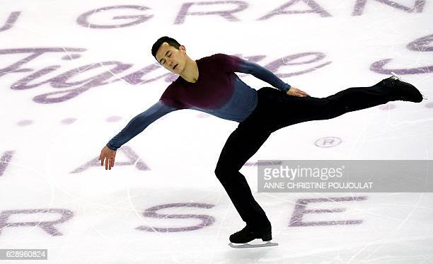 Canada's Patrick Chan competes in the senior Men Free program at the ISU Grand Prix of figure skating Final on December 10 2016 in Marseille southern...