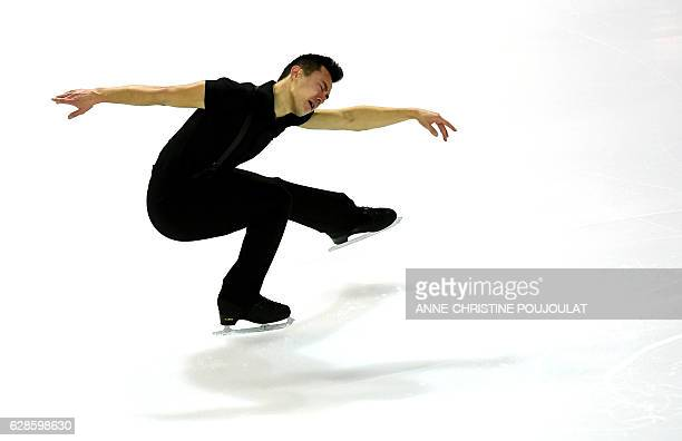 Canada's Patrick Chan competes in the senior men short program at the ISU Grand Prix of Figure Skating Final on December 8 2016 in Marseille southern...