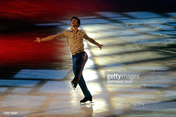 Canada's Patrick Chan performs during the exhibition gala of the Eric Bompard 2011 figure skating trophy on November 20 2011 at the Bercy...