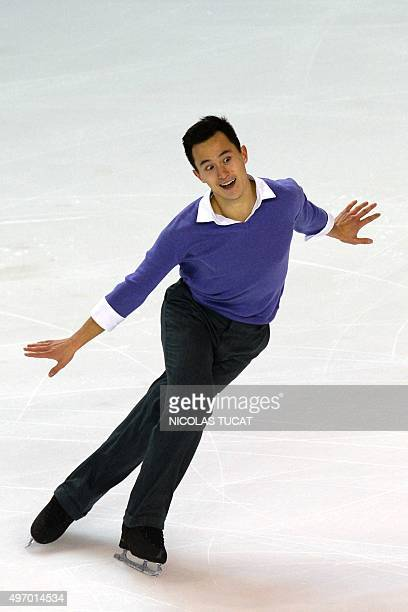 Canada's Patrick Chan performs in the men short program at the Trophee Eric Bompard ISU Grand Prix of Figure Skating in Bordeaux southwestern France...