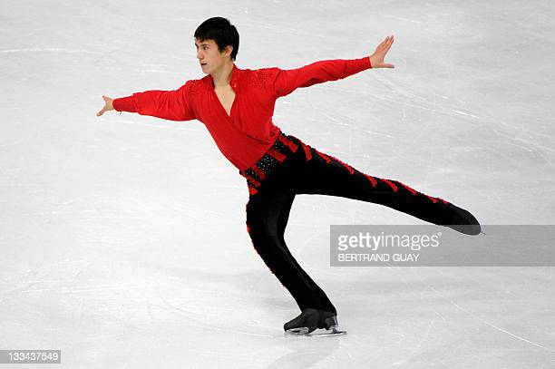 Canada's Patrick Chan performs in the Mens free skating Program during the Eric Bompard 2011 figure skating trophy on November 19 2011 at the Bercy...