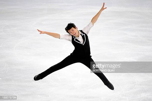 Canada's Patrick Chan performs in the Mens short Skating Program during the Eric Bompard 2011 figure skating trophy on November 18 2011 at the Bercy...