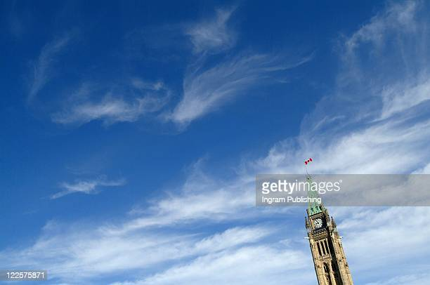 canada's peace tower. - parliament building stock pictures, royalty-free photos & images