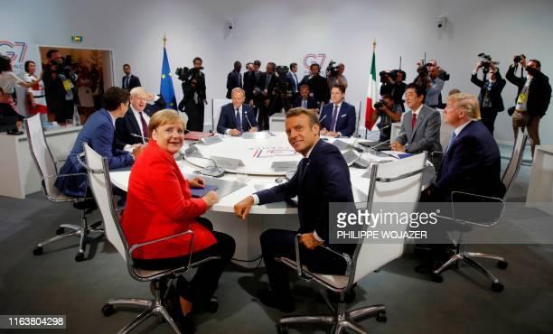 Canada's Prime Minister Justin Trudeau Britain's Prime Minister Boris Johnson Germany's Chancellor Angela Merkel European Council President Donald...