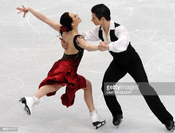 Canada's Tessa Virtue and Scott Moir compete in the Figure Skating Original Dance program, at the Pacific Coliseum in Vancouver during the XXI Winter...