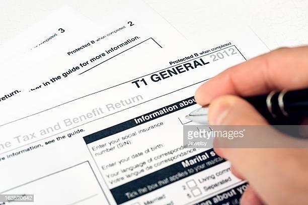 Canadian 2012 T1 General Tax Form