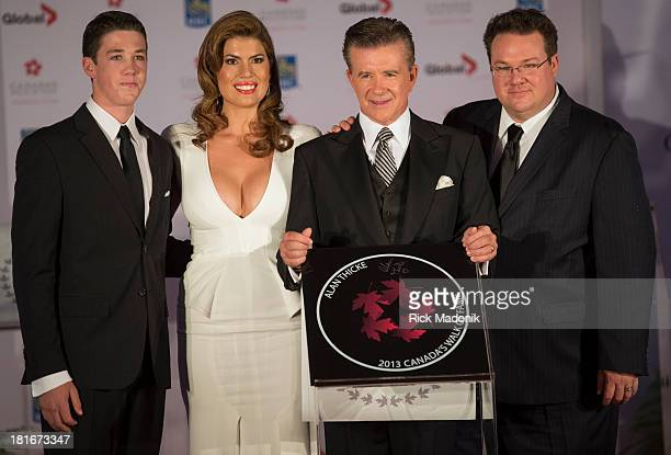 TORONTO SEPTEMBER 21 Canadian actor Alan Thicke is joined by son's Carter and Brennan and wife Tanya during unveiling of his plaque Canada's Walk of...