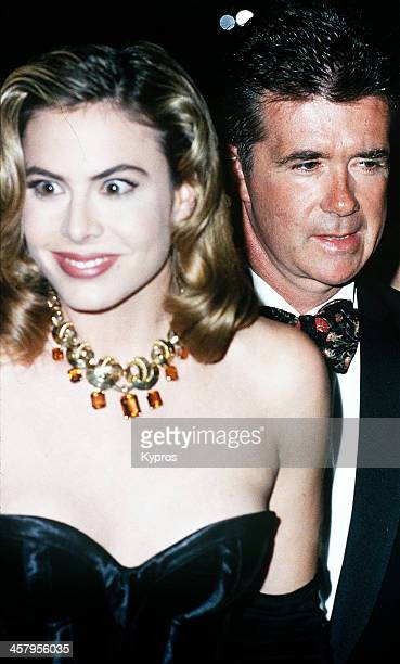 Canadian actor Alan Thicke with his wife former Miss World titleholder Gina Tolleson circa 1994