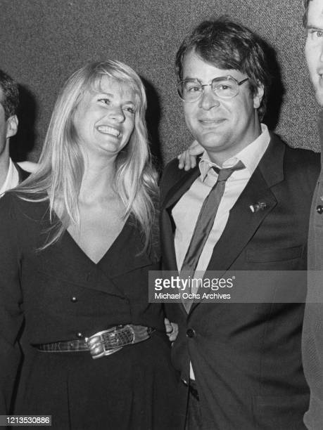 Canadian actor and comedian Dan Aykroyd and his wife, actress Donna Dixon at the Emmy Awards in Los Angeles, circa 1985.
